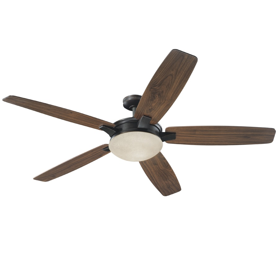 Harbor Breeze Kingsbury 70-in Oil-Rubbed Bronze Downrod Mount Indoor Ceiling Fan with Light Kit and Remote ENERGY STAR