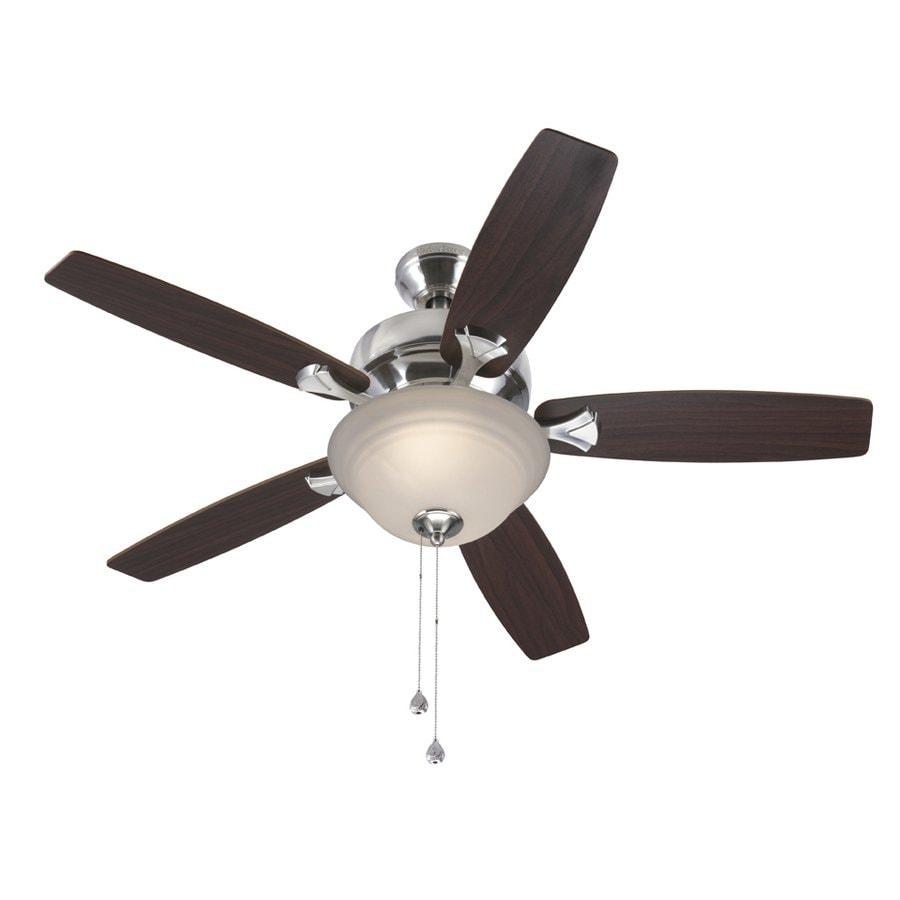 Harbor breeze ceiling fan light kit lowes : Harbor breeze pentiction in brushed nickel downrod