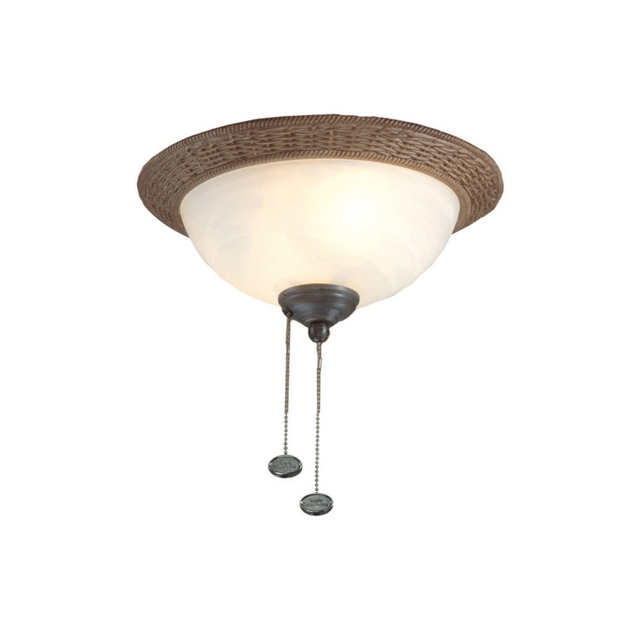 Harbor Breeze 2-Light Aged Bronze Incandescent Ceiling Fan Light Kit with Frosted Glass