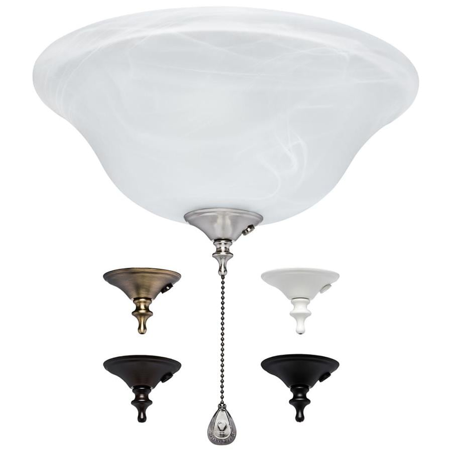 Shop ceiling fan parts accessories at lowes harbor breeze 3 light alabaster incandescent ceiling fan light kit with alabaster glassshade aloadofball Gallery