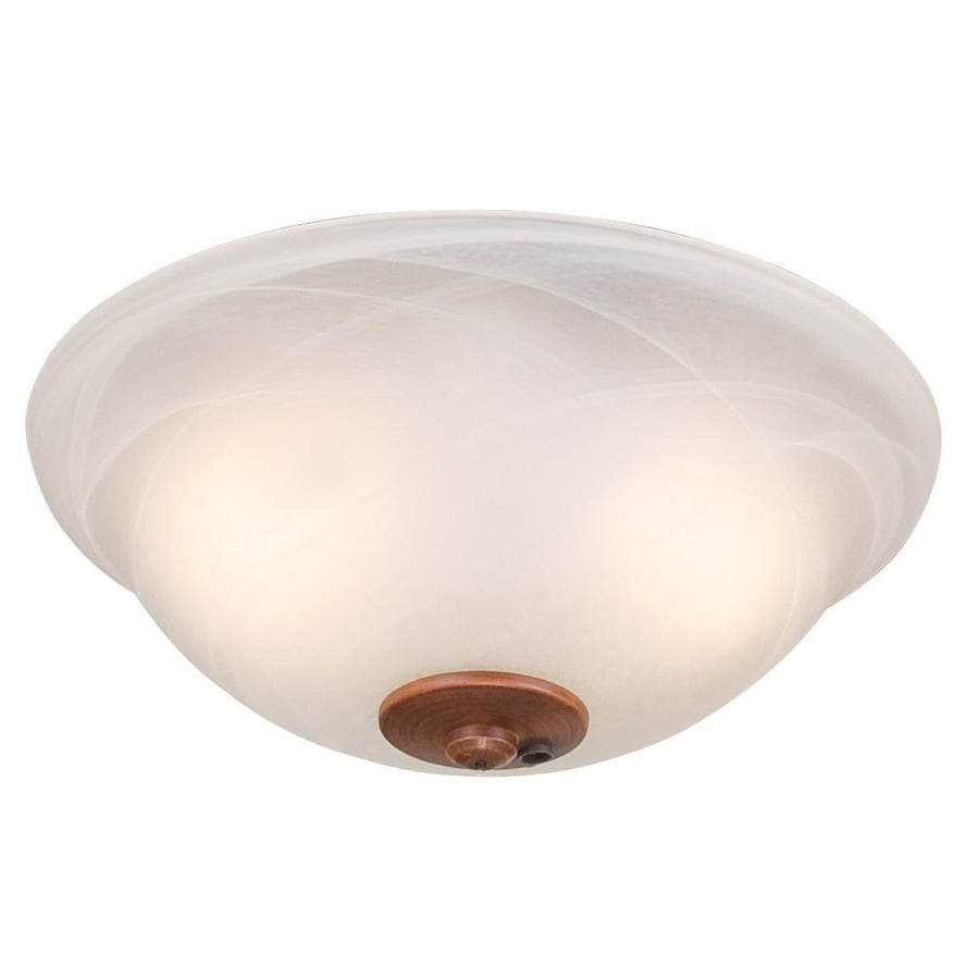 Harbor Breeze 2 Light Swirled Marble Incandescent Ceiling Fan Kit With Alabaster Shade