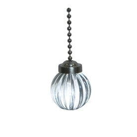 Harbor Breeze 7 In Clear And Pewter Glass Pull Chain