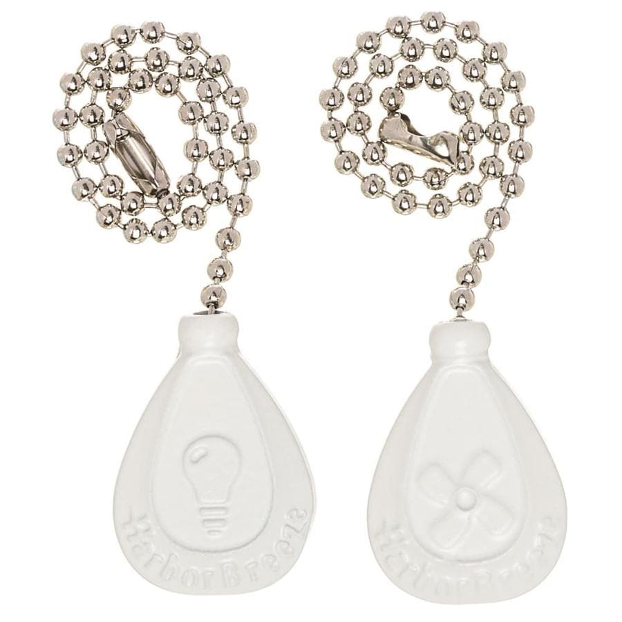 Shop Harbor Breeze 2 Pack 7 In White Zinc Pull Chain At Lowes Com