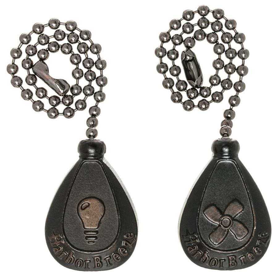 Shop Harbor Breeze 2 Pack 7 In Bronze Zinc Pull Chain At