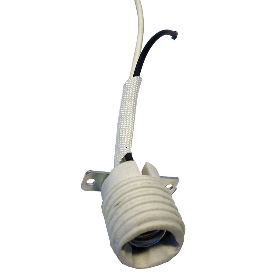 Shop harbor breeze 60 watt white lamp socket at Light bulb socket