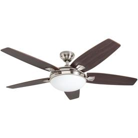 Harbor Breeze Northumberland 48 In Brushed Nickel Indoor Ceiling Fan With Light Kit And Remote