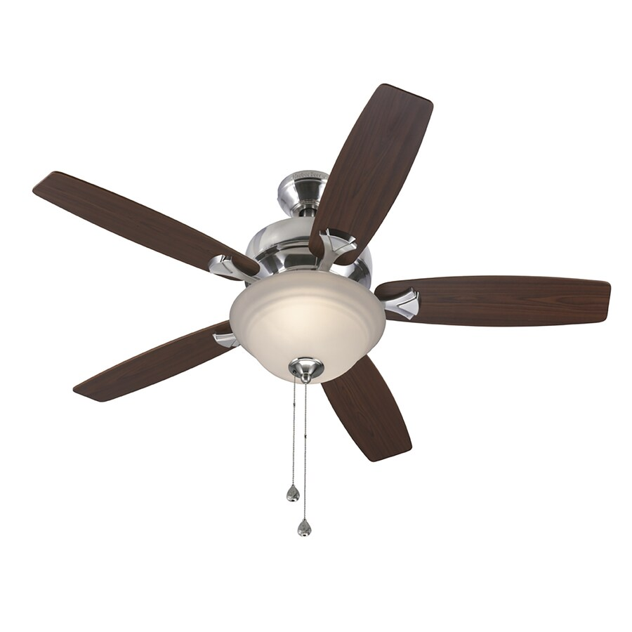 Harbor Breeze Penticton 44 In Brushed Nickel Indoor Ceiling Fan With Light Kit