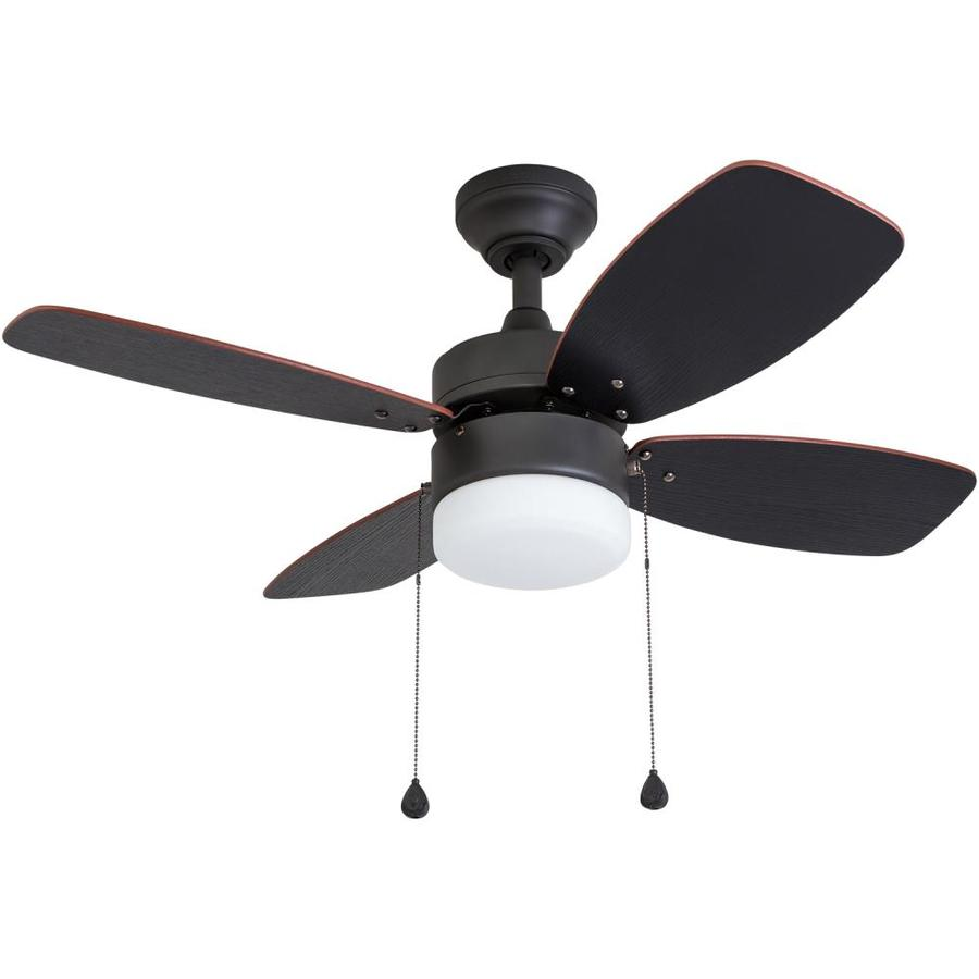 Harbor Breeze Riverview 36-in Bronze Downrod or Close Mount Indoor Ceiling Fan with Light Kit (4-Blade)