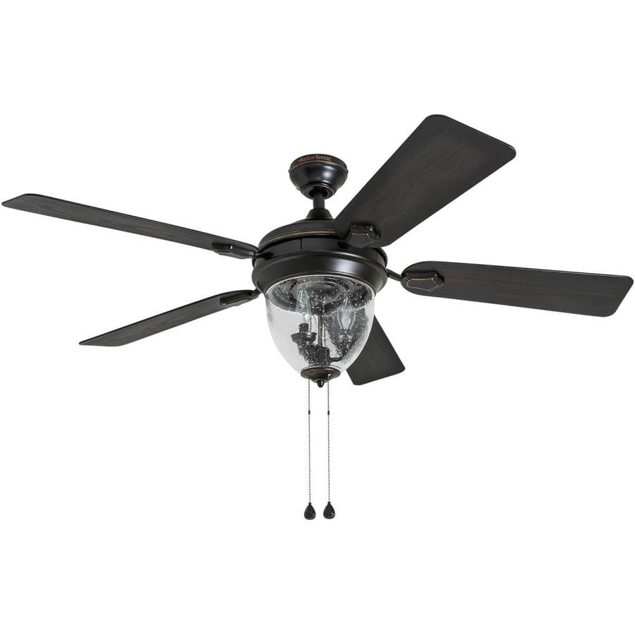 Shop harbor breeze ellesmere 52 in oil rubbed bronze indoor downrod harbor breeze ellesmere 52 in oil rubbed bronze indoor downrod or close mount ceiling fan aloadofball Choice Image