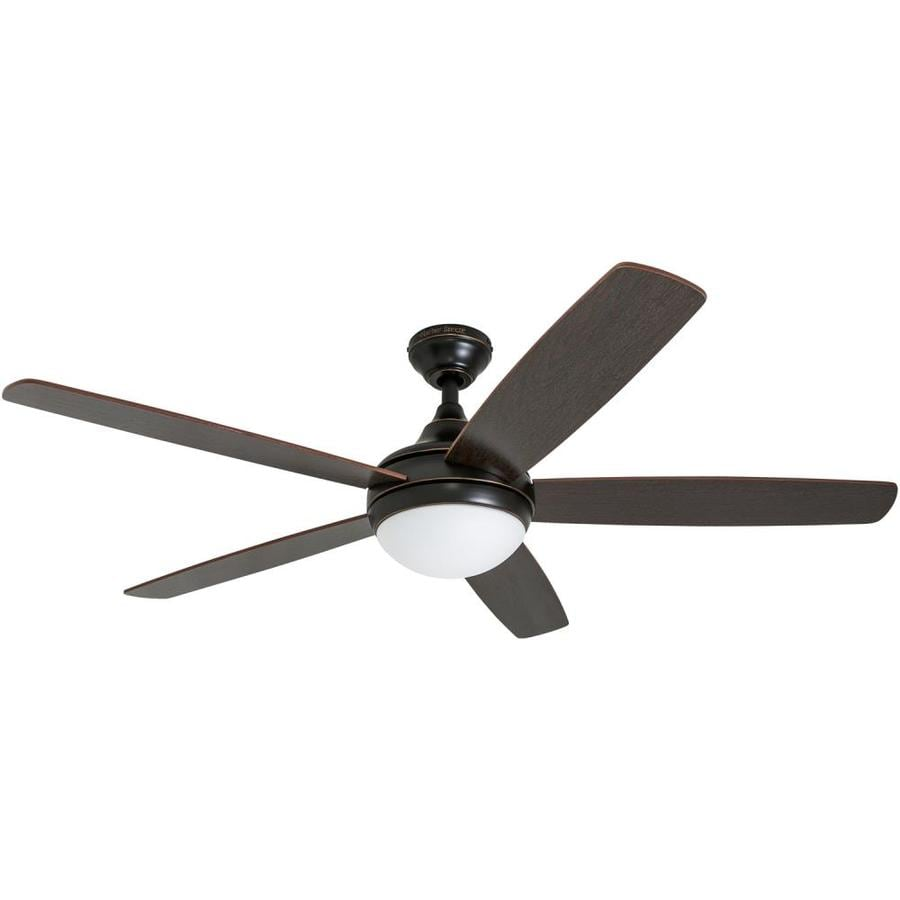 Harbor Breeze Ocean Grove 52-in Oil Rubbed Bronze Indoor Downrod Or Close Mount Ceiling Fan with Light Kit and Remote