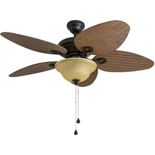 Harbor Breeze Bridgeford 44 In Indoor Outdoor Ceiling Fan With Light Kit 5 Blade At Lowes Com