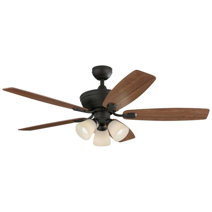 Harbor Breeze Tidebrook 52-in Oil-Rubbed Bronze Indoor Downrod Or Close Mount Ceiling Fan with Light Kit and Remote