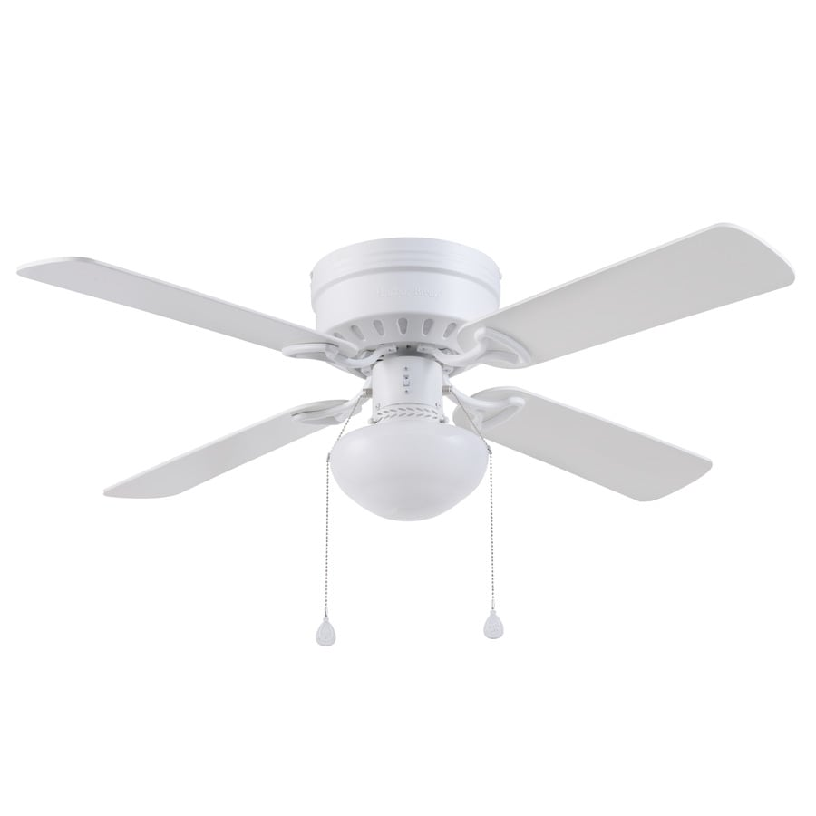 Shop harbor breeze armitage 42 in white indoor flush mount ceiling harbor breeze armitage 42 in white indoor flush mount ceiling fan with light kit aloadofball Choice Image