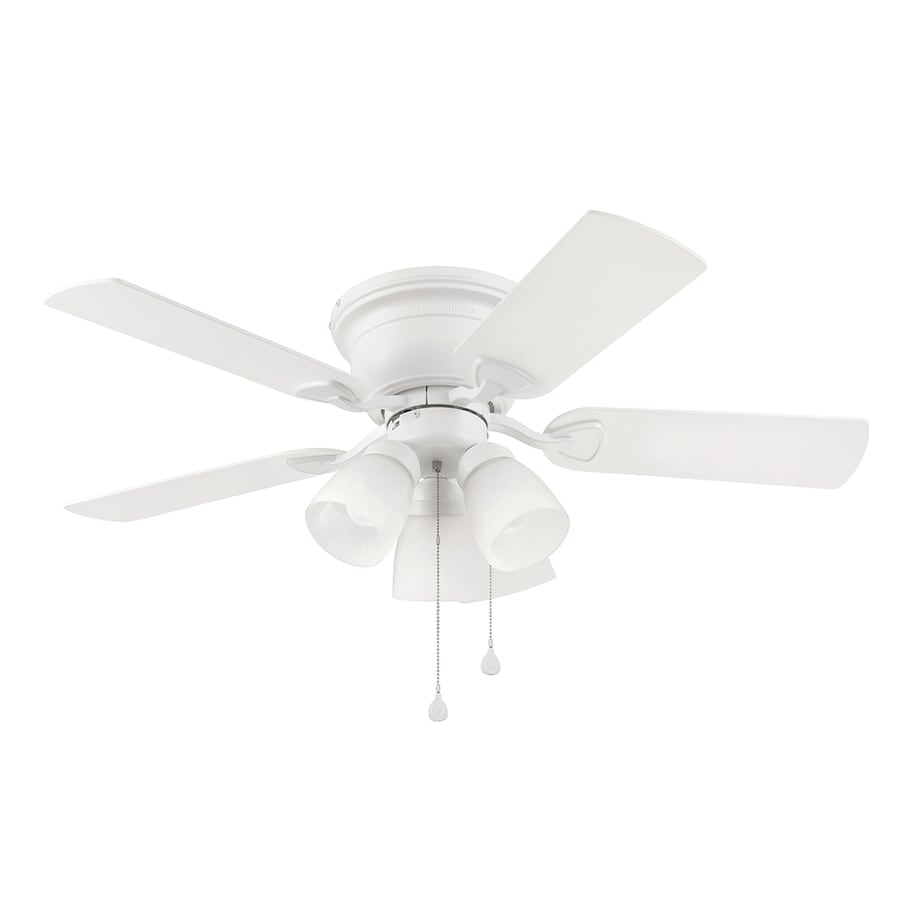 Harbor Breeze Centreville 42-in White Indoor Flush Mount Ceiling Fan with Light Kit