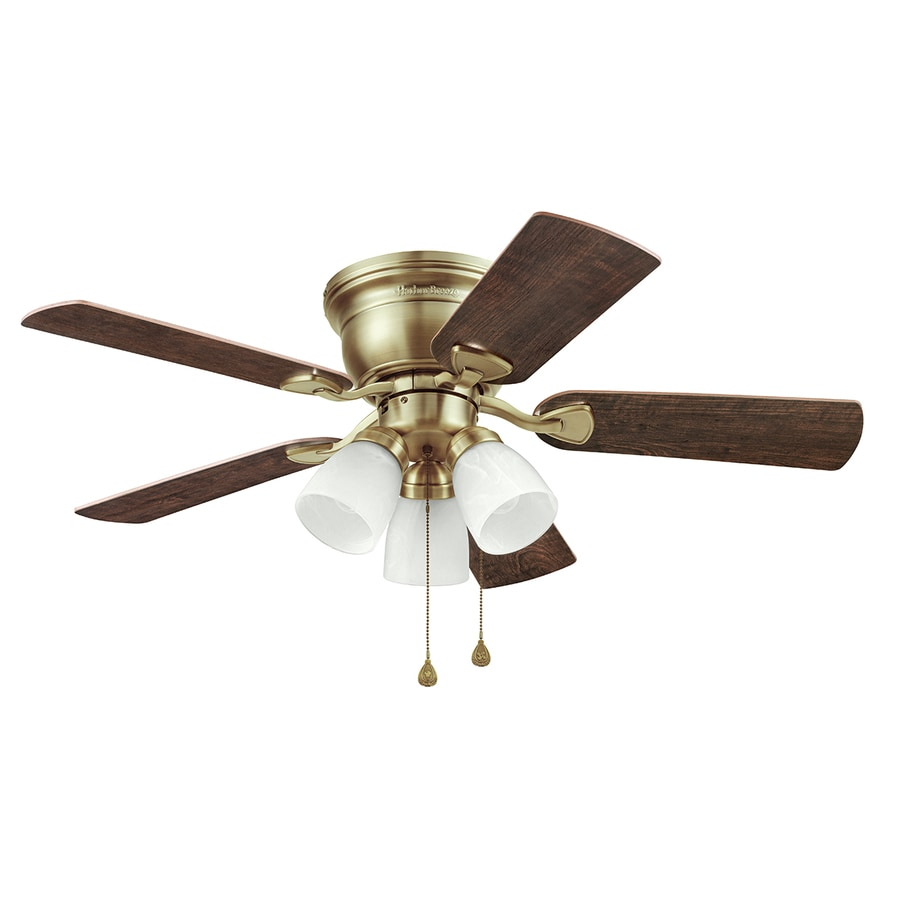 Ceiling Fan Mount : Shop harbor breeze centreville in antique brass indoor
