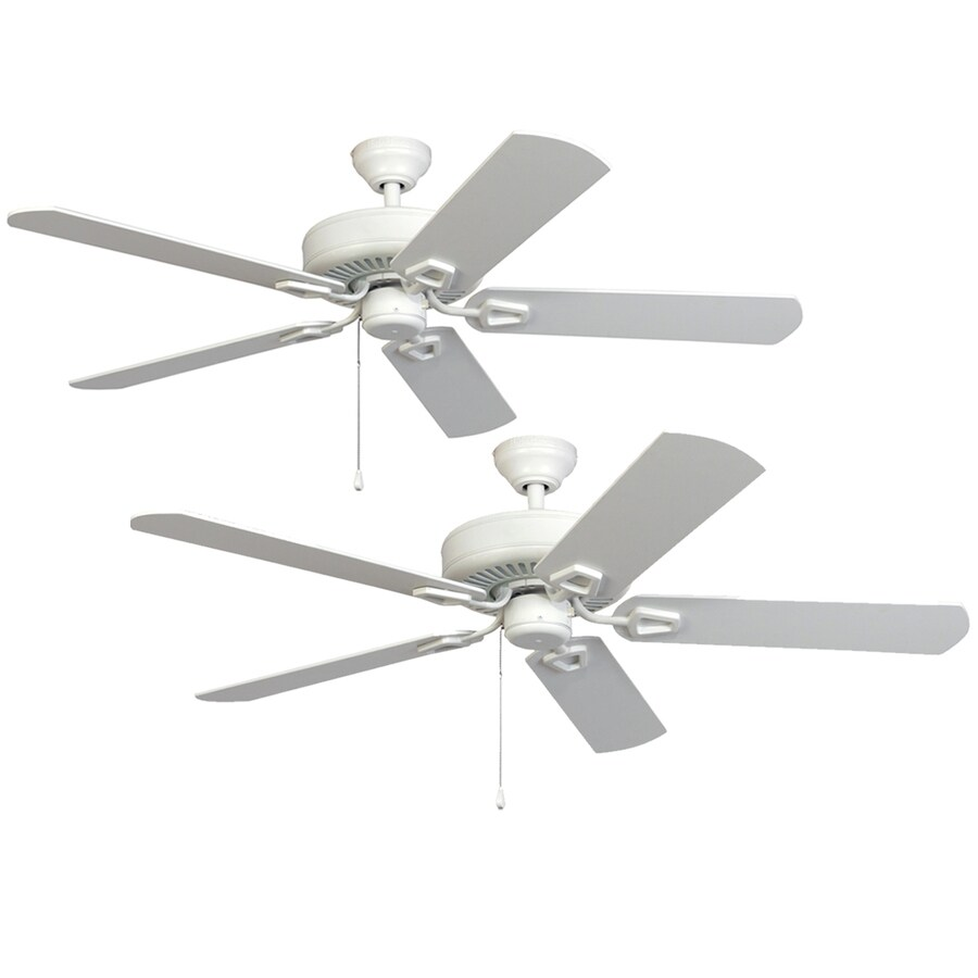 Shop harbor breeze 52 in matte white downrod or close mount indoor harbor breeze 52 in matte white downrod or close mount indoor ceiling fan energy star aloadofball Image collections