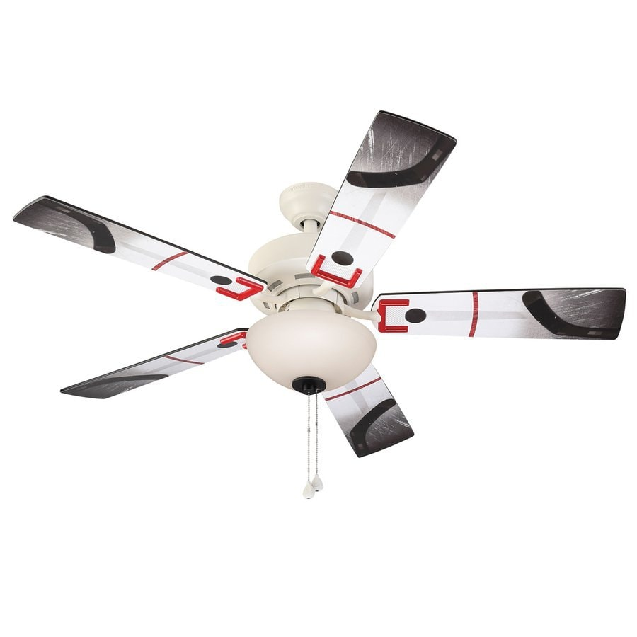 Harbor Breeze Slapshot 48-in White Downrod or Close Mount Indoor Ceiling Fan with Light Kit
