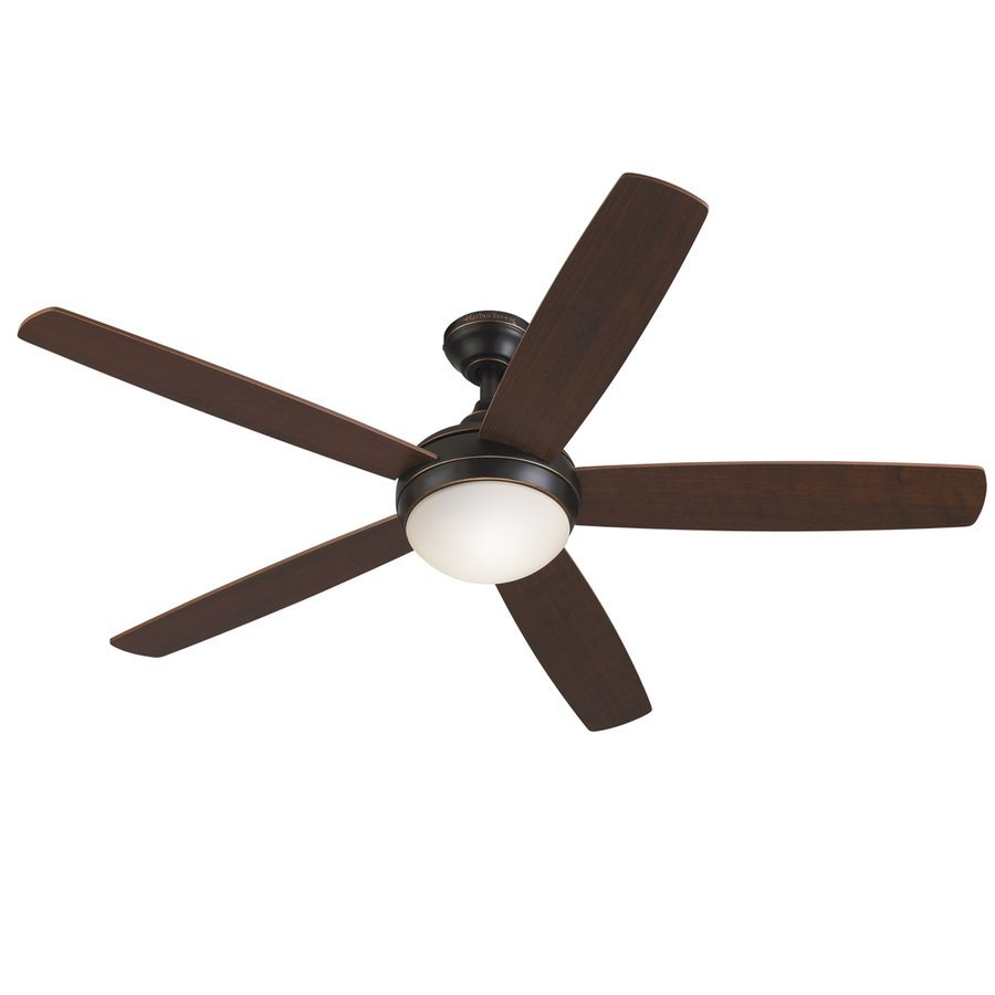 Harbor Breeze Ocean Grove 52-in Oil Rubbed Bronze Downrod or Close Mount Indoor Ceiling Fan with Light Kit and Remote