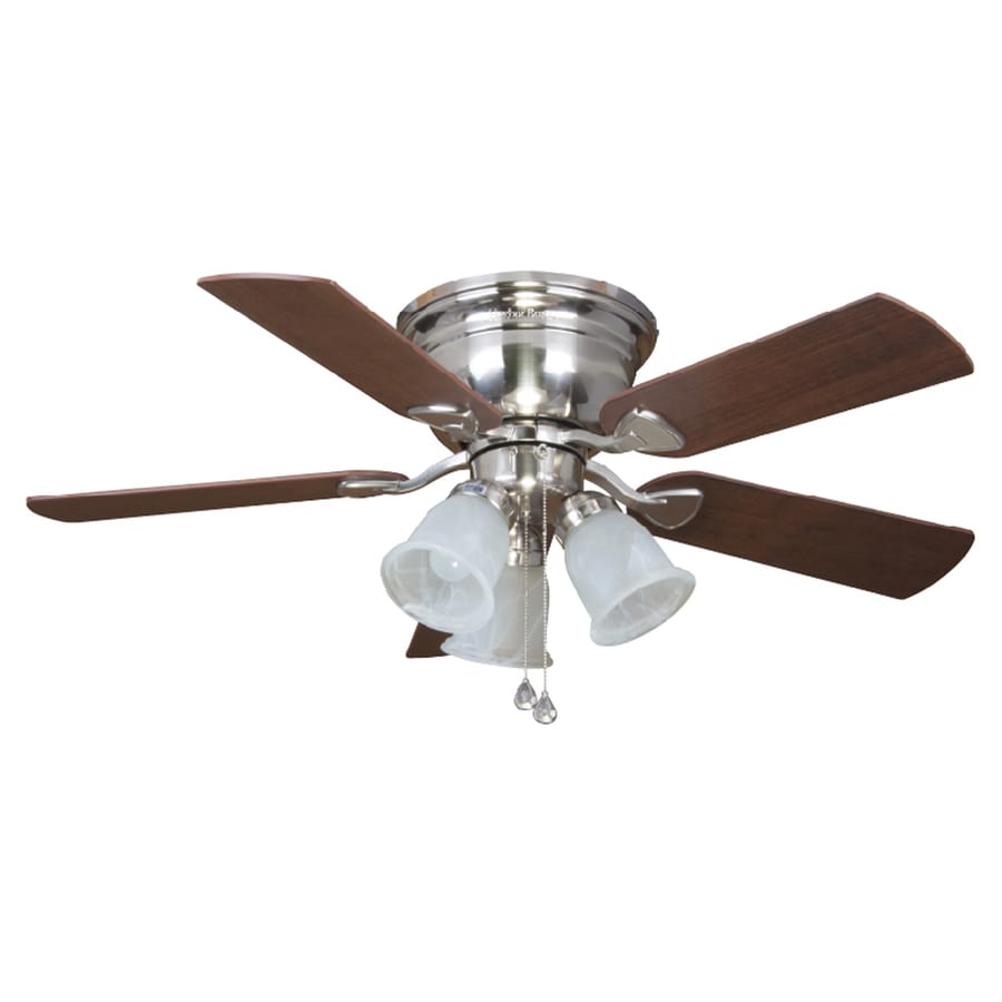 Shop harbor breeze centerville 42 in brushed nickel flush mount harbor breeze centerville 42 in brushed nickel flush mount ceiling fan with light kit aloadofball Image collections