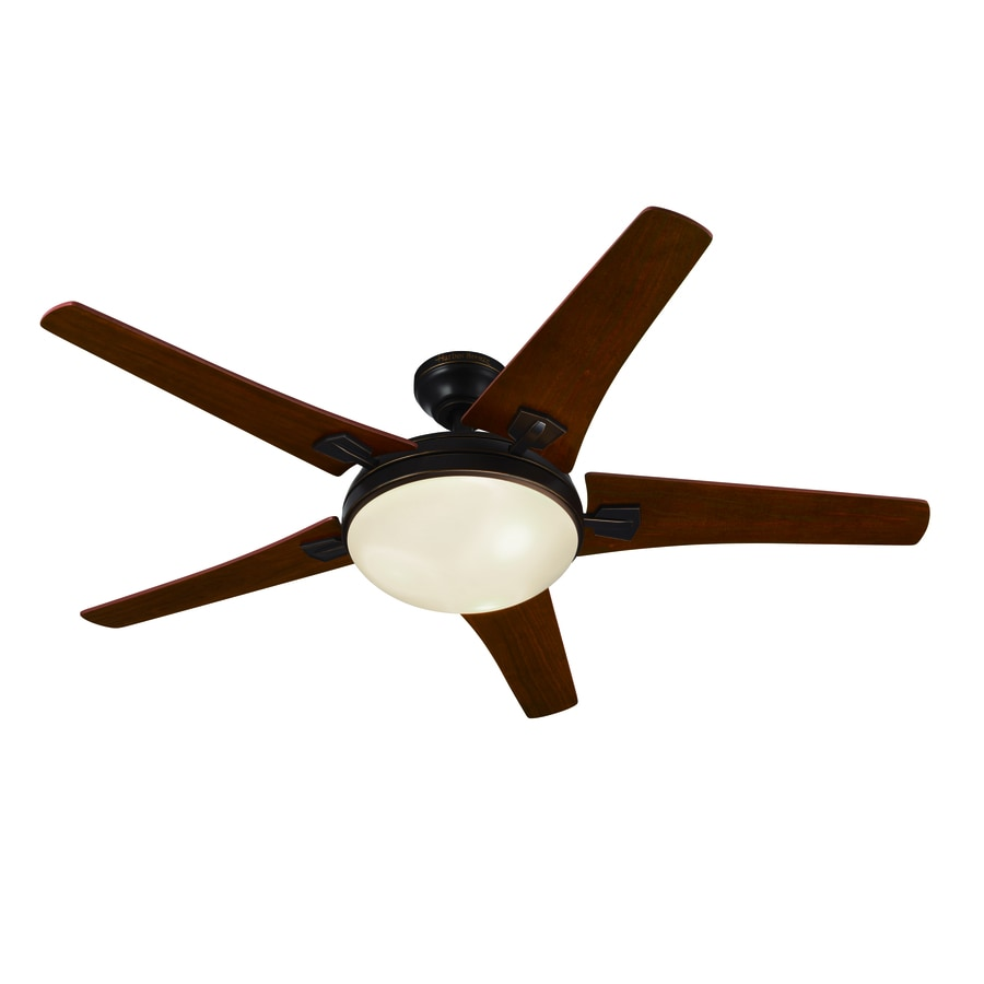 Harbor Breeze Gracey Creek 48-in Oil Rubbed Bronze Downrod or Close Mount Indoor Ceiling Fan with Light Kit and Remote
