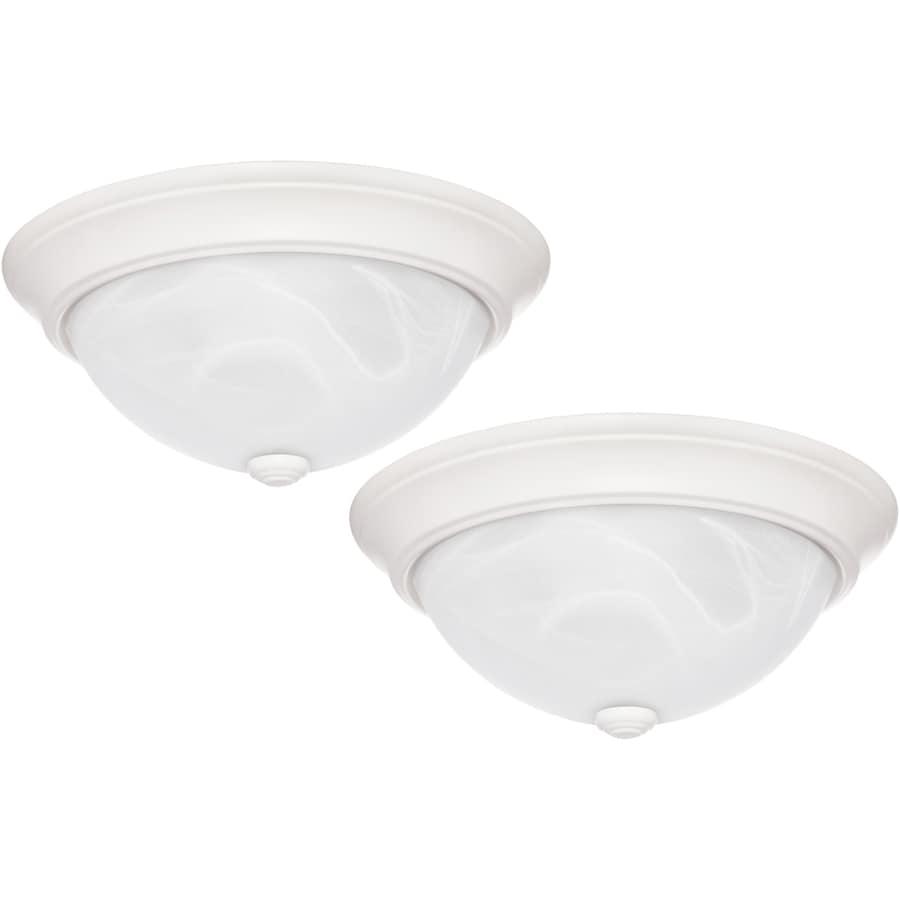 Project Source 2-Pack 13-in W White Flush Mount Lights