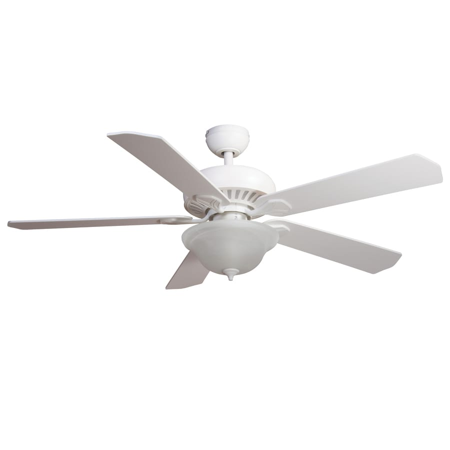 Harbor Breeze Crosswinds 52 In White Indoor Ceiling Fan With Light Kit And  Remote