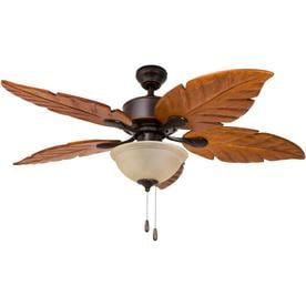 Shop ceiling fans at lowes harbor breeze st kitts 52 in oil rubbed bronze indooroutdoor downrod mount ceiling aloadofball Choice Image