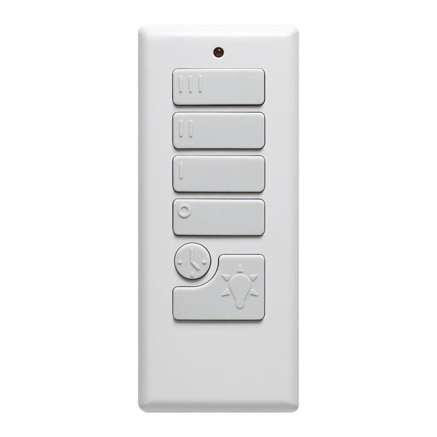 Shop ceiling fan remote controls at lowes harbor breeze off white handheld universal ceiling fan remote control aloadofball