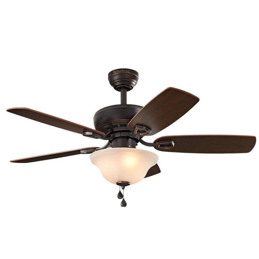 harbor breeze sage cove 44 in bronze indoor ceiling fan with light kit 5 blade at. Black Bedroom Furniture Sets. Home Design Ideas