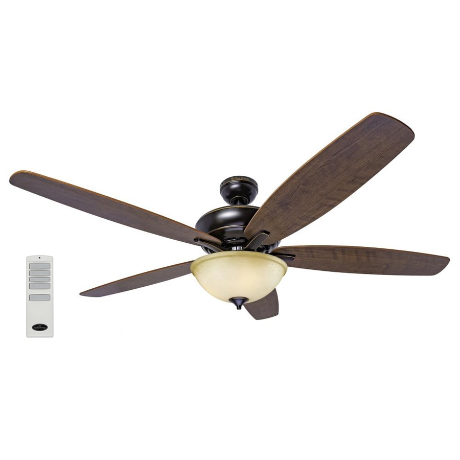 Harbor Breeze Aberly Cove 60 In Bronze Indoor Ceiling Fan With Light Kit And Remote