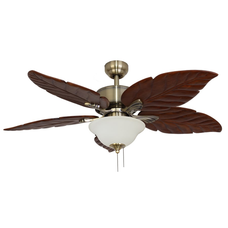 Ceiling Fans With Lights : Shop palm coast puerto vallarta in aged brass indoor