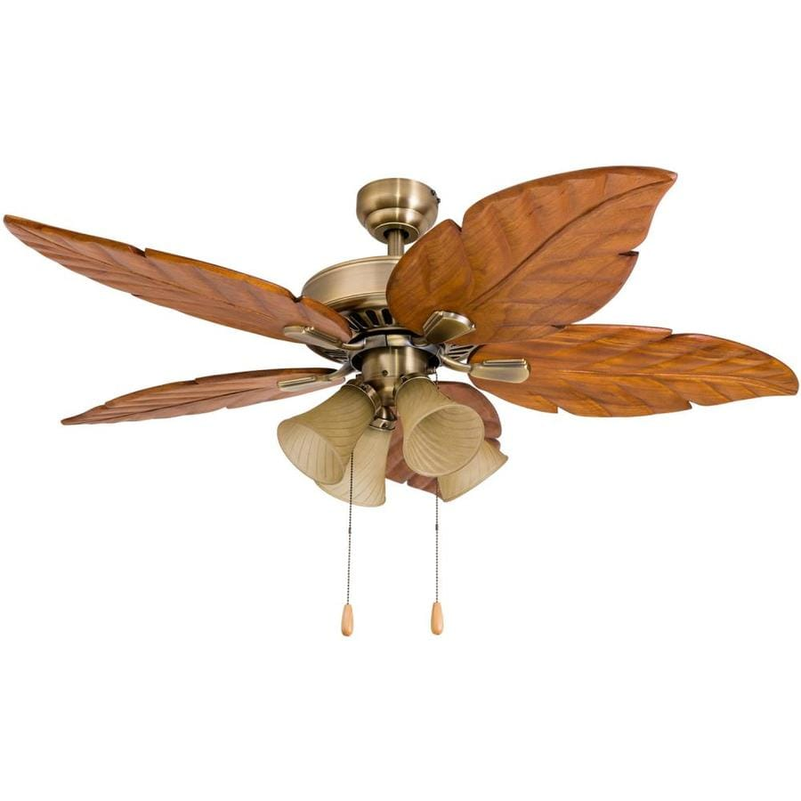 Palm Coast San Martin 52 In Aged Brass Indoor Ceiling Fan With Light Kit