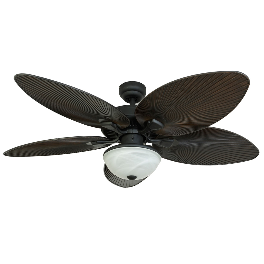 Palm Coast 52 In Indoor Outdoor Ceiling Fan With Light Kit 5 Blade At Lowes Com