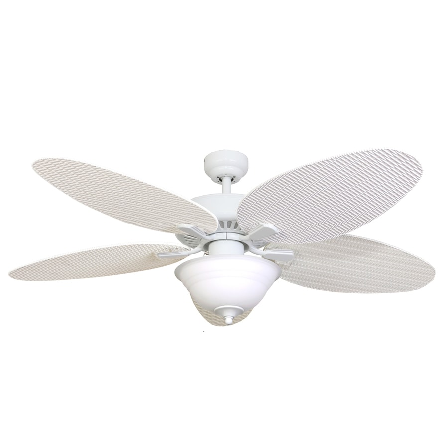 Palm Coast Southard 52-in White Indoor Downrod Or Close Mount Ceiling Fan with Light Kit
