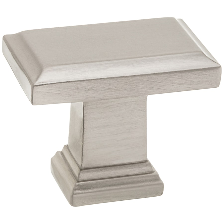 Style Selections Nickel Rectangular Cabinet Knob
