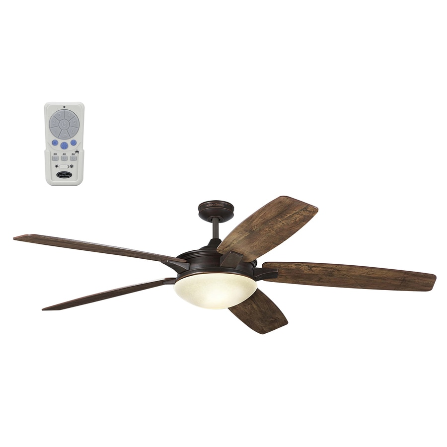 Harbor Breeze Kingsbury 70 In Oil Rubbed Bronze Indoor Downrod Mount Ceiling Fan With Light
