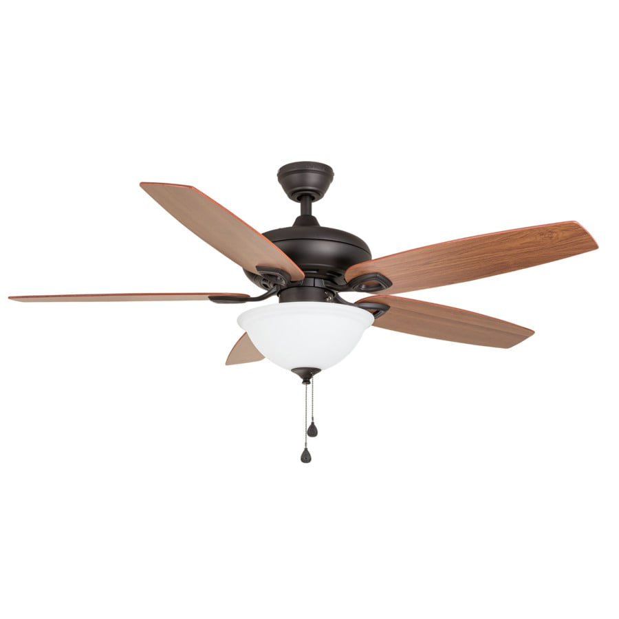 Harbor Breeze Coastal Creek 52-in Bronze Indoor Downrod Or Close Mount Ceiling Fan with Light Kit