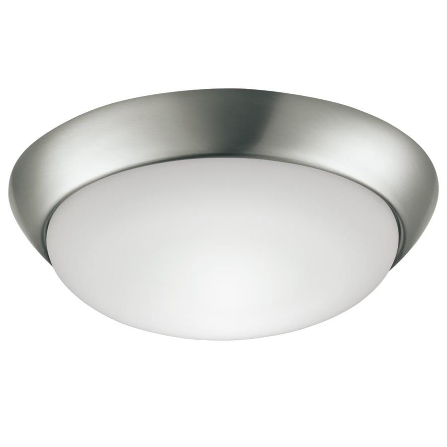 Project Source 13-in W Brushed Nickel LED Flush Mount Light