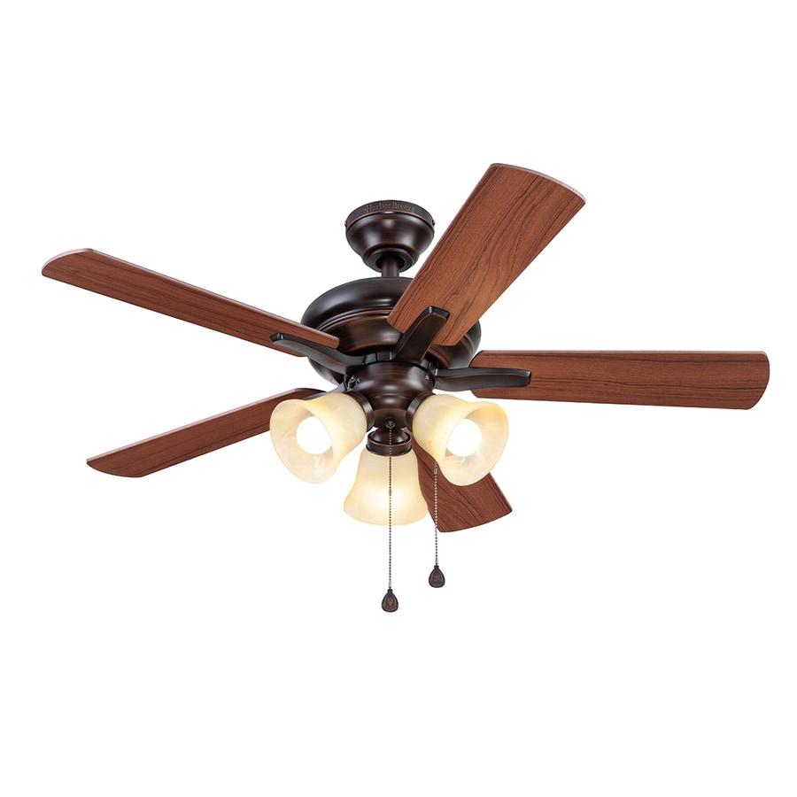 Harbor Breeze Lansing 42 In Bronze Indoor Ceiling Fan With