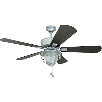 Harbor Breeze Merrimack 52 In Distressed Gray Led Indoor Outdoor Ceiling Fan With Light Kit 5