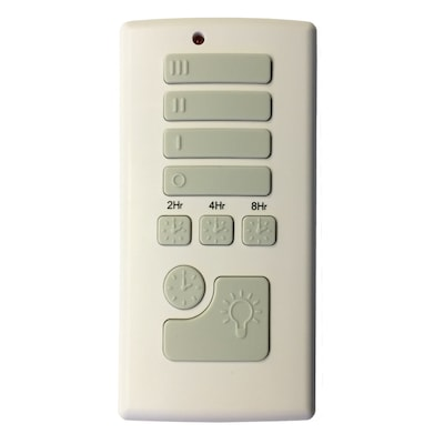 Off-White Handheld Universal Ceiling Fan Remote Control on