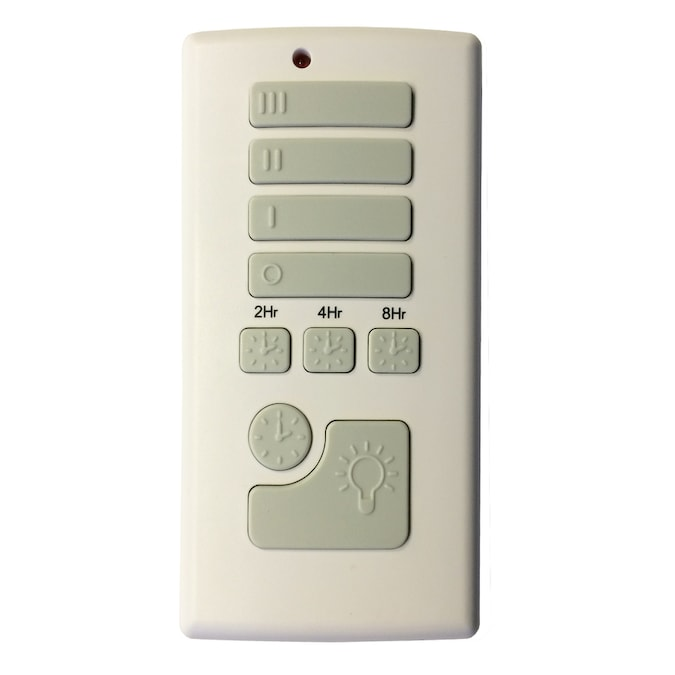 Harbor Breeze Off White Handheld Universal Ceiling Fan Remote Control In The Ceiling Fan Remote Controls Department At Lowes Com