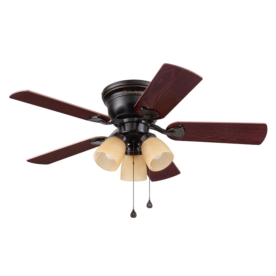harbor breeze centreville 42in flush mount indoor ceiling fan with light kit