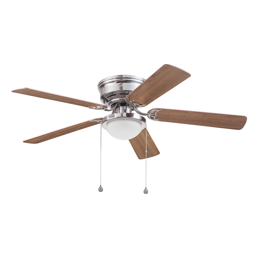 Shop harbor breeze armitage 52 in brushed nickel indoor flush harbor breeze armitage 52 in brushed nickel indoor flush mount ceiling fan with light kit aloadofball Choice Image
