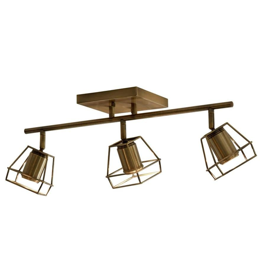 Shop portfolio astoria 3 light 2185 in soft gold dimmable led track portfolio astoria 3 light 2185 in soft gold dimmable led track bar fixed track mozeypictures Images