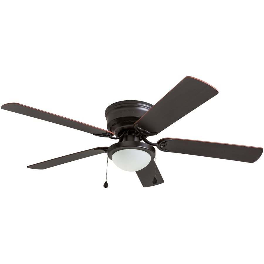 Ceiling Light Fan: Harbor Breeze 1-Pack Armitage 52-in Bronze Flush Mount