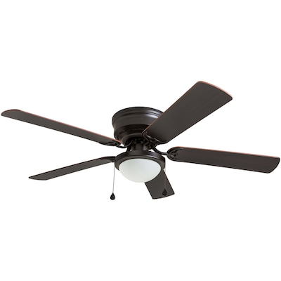Armitage 52-in Bronze LED Indoor Residential Flush mount Ceiling Fan on
