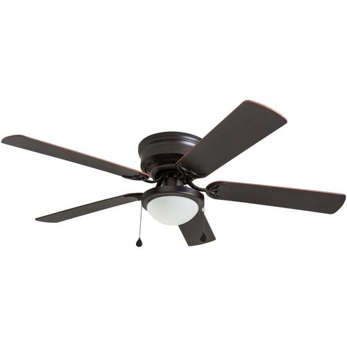Harbor Breeze Armitage 52 In Bronze Led Indoor Flush Mount Ceiling Fan With Light Kit 5 Blade In The Ceiling Fans Department At Lowes Com