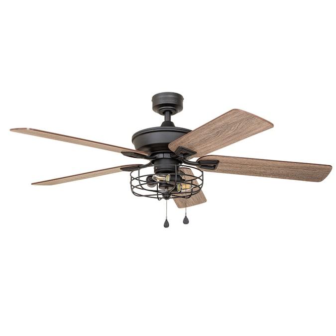 Harbor Breeze 52 In Matte Black Led Indoor Ceiling Fan