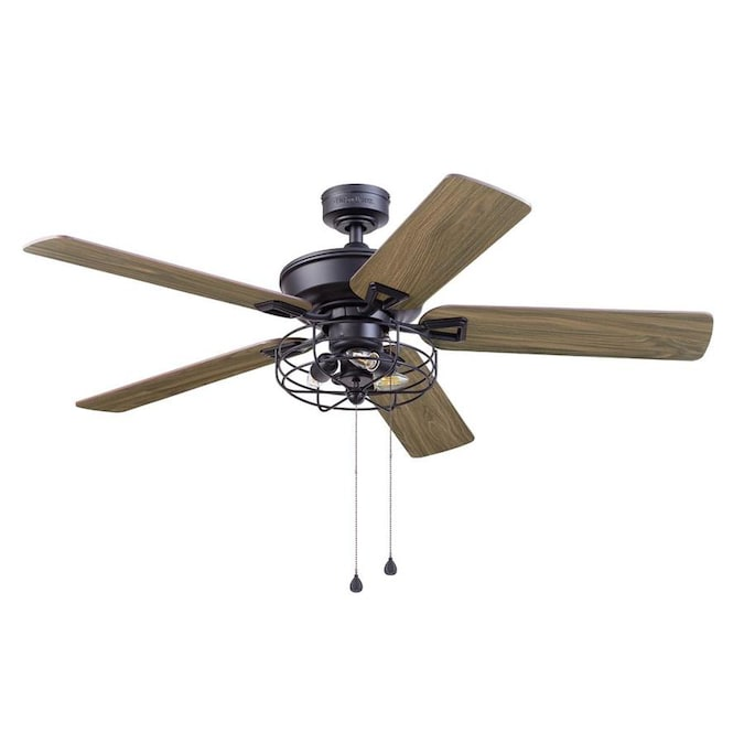 Harbor Breeze 52 In Matte Black Led Indoor Ceiling Fan With Light Kit 5 Blade In The Ceiling